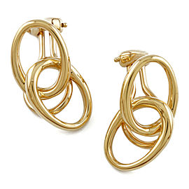 TIFFANY & Co. 18K Yellow Gold Double loop Clip Earring CHAT-904