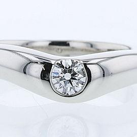 TIFFANY & Co. Platinum/diamond Curved band Ring
