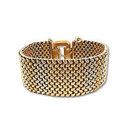 18 Karat Flexible Tri-Colored Gold Bracelet