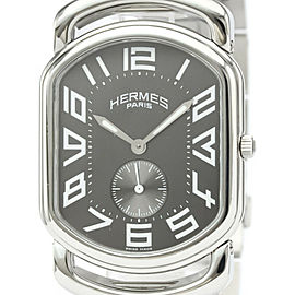 Polished HERMES Rally Stainless Steel Quartz Mens Watch RA1.810