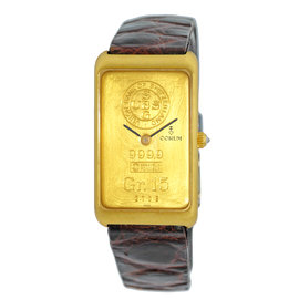Corum Ingot 999.9 Yellow Gold Strap Mens Watch