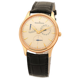 "Jaeger-LeCoultre ""Master Ultra Thin Reserve De Marche"" 18K Rose Gold Mens Strap Watch"