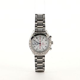 Omega Speedmaster Date Olympic Chronograph Automatic Watch Watch Stainless Steel 39