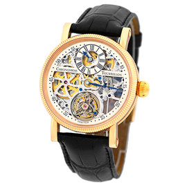 "Chronoswiss ""Tourbillon"" CH 3121 R 18K Rose Gold & Leather 38mm Mens Watch"