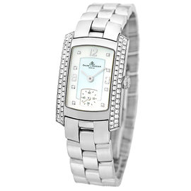 "Baume & Mercier ""Hampton Milleis"" 18K White Gold Womens Watch"
