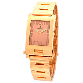 "Corum ""Toboggan"" 18K Rose Gold Quartz 24mm Unisex Watch"