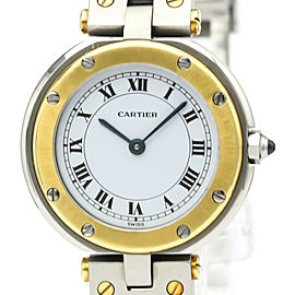 CARTIER stainlessSteel/18K yellow Gold Santos Round Watch HK-2037