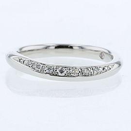 Ponte Vecchio platinum diamond Wave line wedding Ring