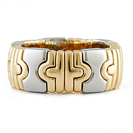 BVLGARI 18K Yellow Gold/Stainless Steel Parentesi Ring CHAT-927