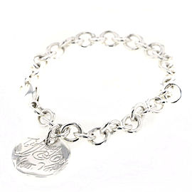 TIFFANY & Co 925 Silver Notes round tag bracelet TBRK-477