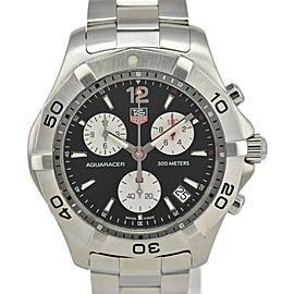 TAG HEUER Aqua racer CAF1110 Chronograph black Dial Quartz Men's Watch