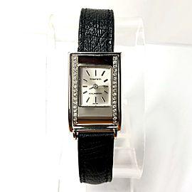 TIFFANY & CO. Schlumberger 18K White Gold Ladies Watch DIAMOND Bezel Ladies Watch
