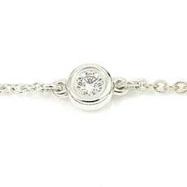 Tiffany & Co. Sterling Silver, Diamond By The Yard Chain Bracelet CHAT-207