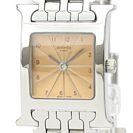 HERMES H Watch Stainless Steel Quartz Watch