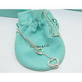 Tiffany & Co. Sterling Silver Elsa Peretti Open Heart Lariat Necklace