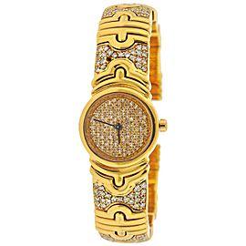 Bulgari Parentesi Gold Diamond Watch Bracelet BB 30 GLD