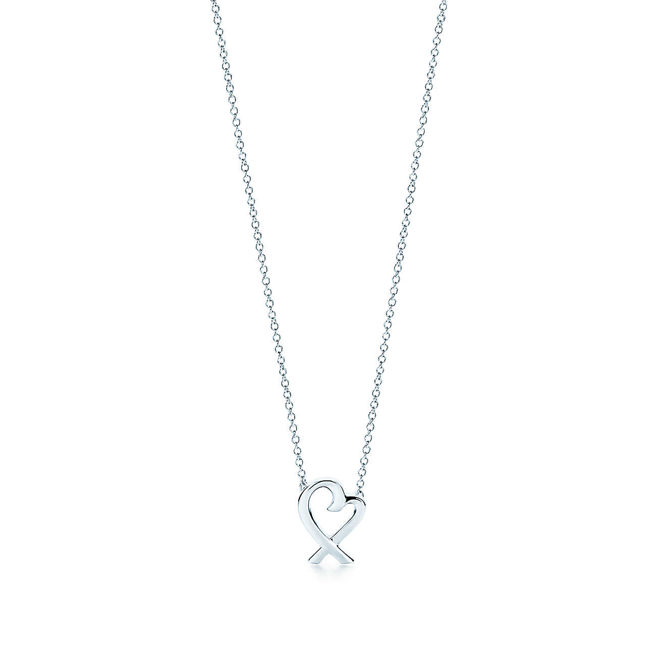 52994d81c89a4 Tiffany & Co. Paloma Picasso Sterling Silver Loving Heart Pendant Necklace