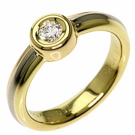 CARTIER 18K Pink Gold/18K Yellow Gold/18K White Gold Monostone Three Color Diamond Ring TNN-1860