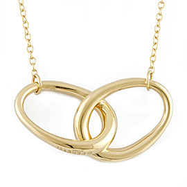 TIFFANY&Co. 18K yellow Gold Double loop Necklace CHAT-351