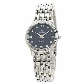 OMEGA 424.10.27.60.53.001 De Ville Stainless Steel/Stainless Steel Prestige 8P Diamond Watch TNN-2061