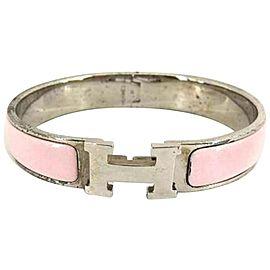 Hermes Silver Tone Hardware Clic Clac Bracelet