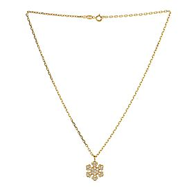 Bvlgari Fiocco di Neve Pendant Necklace 18K Yellow Gold and Diamonds