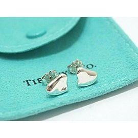 Tiffany & Co. Sterling Silver Elsa Peretti Full Heart Stud Earrings
