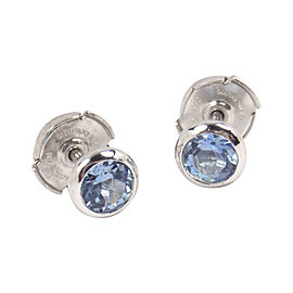 Tiffany & Co. Elsa Peretti Platinum with 0.70ct. Aquamarine Earrings
