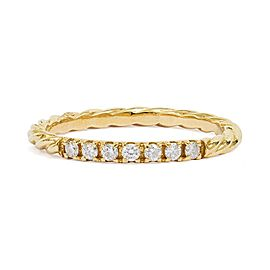 18K Yellow Gold with 0.12ctw Diamond Ring Size 6.5