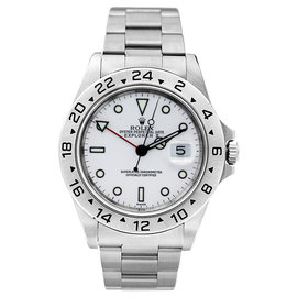 Rolex Explorer II 16570 White Mens Watch