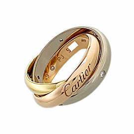 CARTIER 18k Gold Diamond 5P Trinity ring CHAT-999