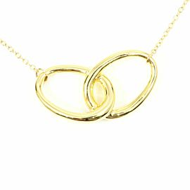 Tiffany & Co. 18K Yellow Gold Double Loop Necklace Pendant CHAT-215
