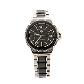 Tag Heuer Formula 1 Quartz Watch Ceramic and Stainless Steel with Diamond Bezel 37
