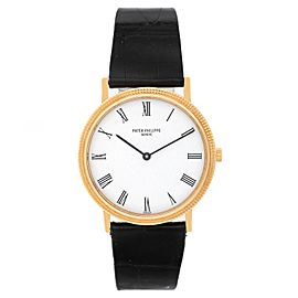 Patek Philippe Yellow Gold Calatrava Men's Quartz Watch Ref. 3954 J or 3954J