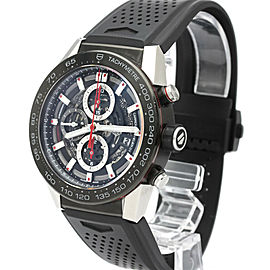 Polished TAG HEUER Stainless Steel Carrera Calibre Heuer 01 Watch HK-2067