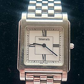 Tiffany & Co. Stainless Steel Square Classic 28mm Womens Watch