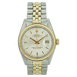 Rolex Datejust 1601 Stainless Steel & 18K Yellow Gold White Dial 36mm Mens Watch