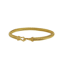 David Yurman 18k Yellow Gold Buckle Bracelet