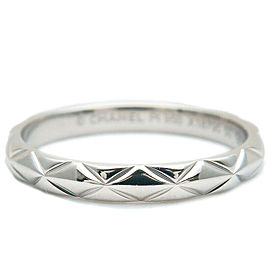 CHANEL Small Platinum Matelasse Ring