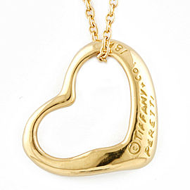 TIFFANY&Co. 18K yellow Gold Open heart Necklace CHAT-338