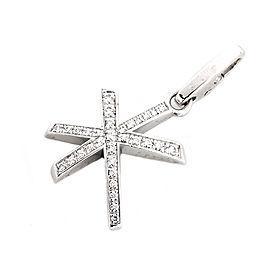 Cartier 18K White Gold Diamond Star Shape Pendant