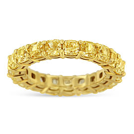 18K Yellow Gold Diamond Eternity Ring Size 7