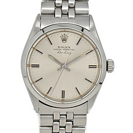 ROLEX Air king 5500 US Breath Silver Dial Cal.1520 Automatic Men's Watch