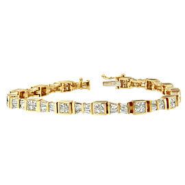 14K Yellow Gold & 5 7/8ct Diamond Bow Bracelet