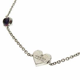 GUCCI Silver Heart motif Bracelet