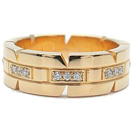 Cartier 18k Yellow gold Diamond Gold Tank Francaise Half Ring