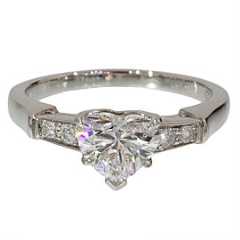 Harry Winston 950 Platinum & 0.90ct Diamond Ring Size 5