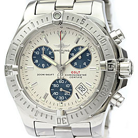 Polished BREITLING Colt Chronograph Steel Quartz Mens Watch A73380