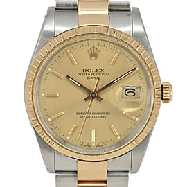 ROLEX Oyster Perpetual Date 15053 SS/K18 Cal.3035 Automatic Men's Watch