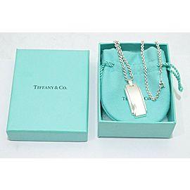 Tiffany & Co. Sterling Silver Metropolis Bar Pendant Necklace